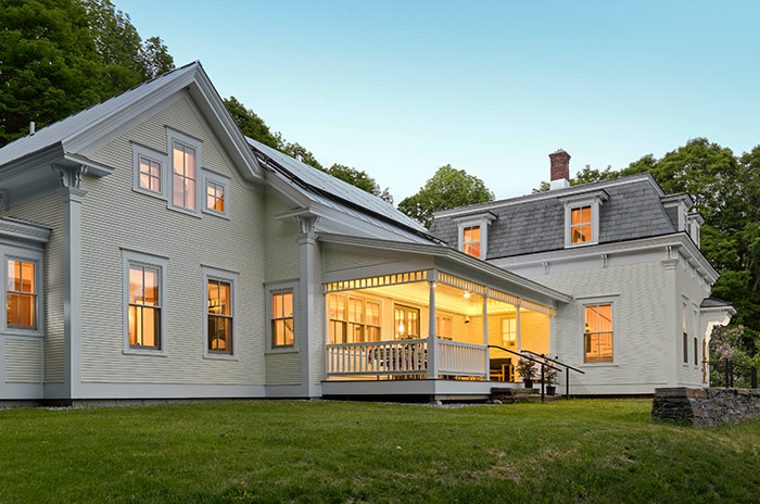 new historical vermont home in summer