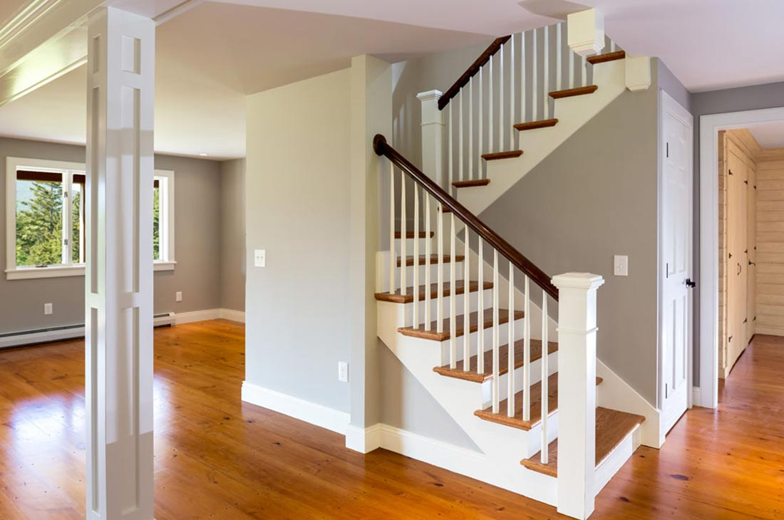 open space with stairs