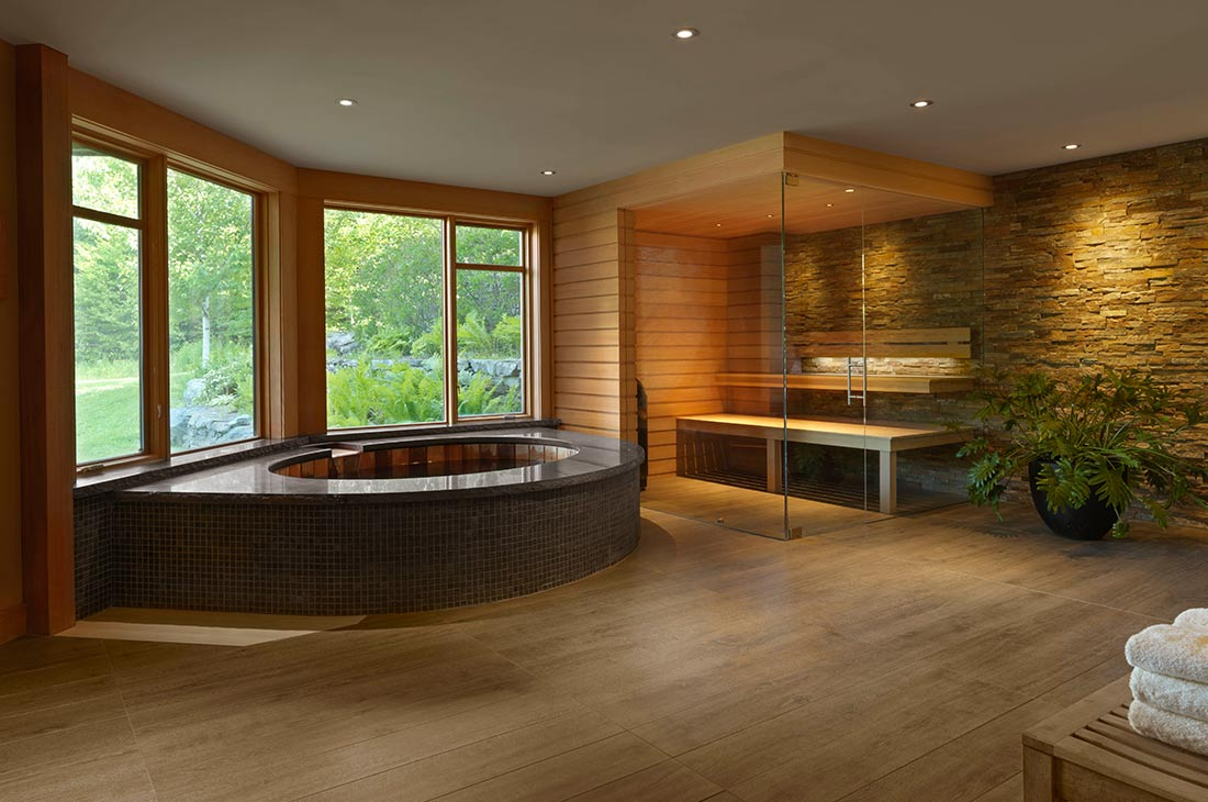 picture of the spa with wooden walls