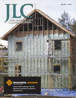 Newschool Builders on the cover of the journal of light construction